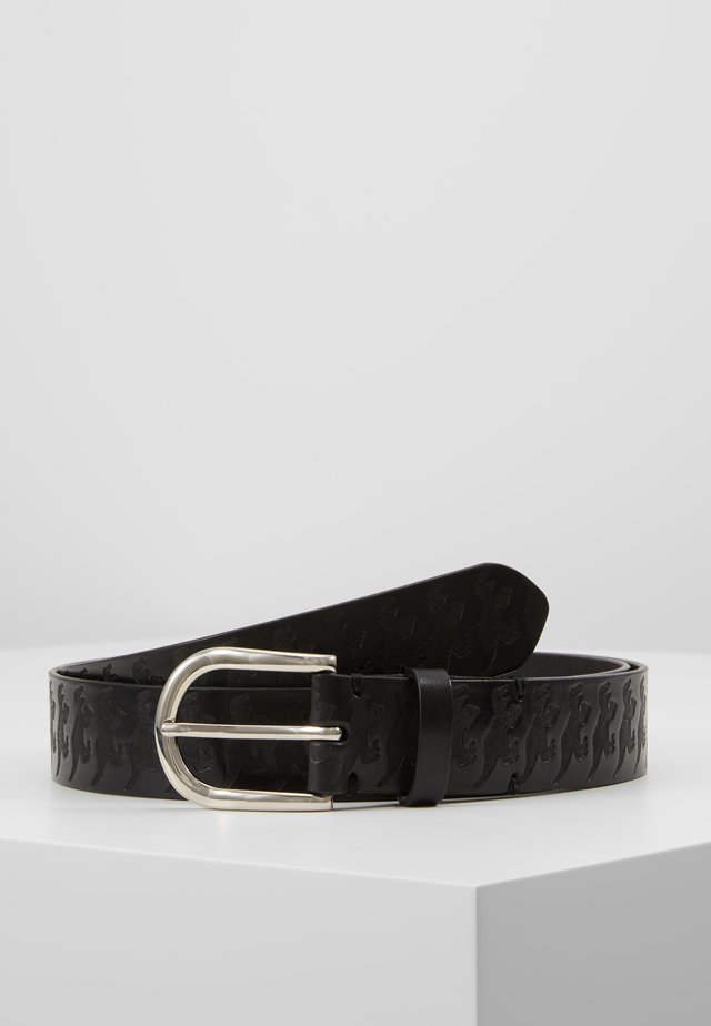 MEN BELT DINO EMBOSS - Belte - black