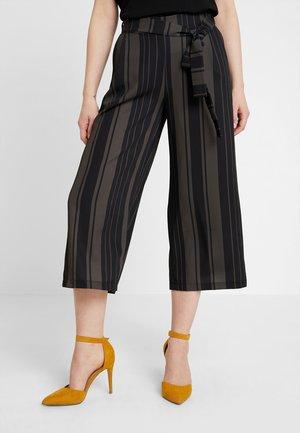 Trousers - khaki/black