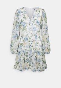 Forever New - MAE LONG SLEEVE RUFFLE MINI DRESS - Robe d'été - provincial blue - 0