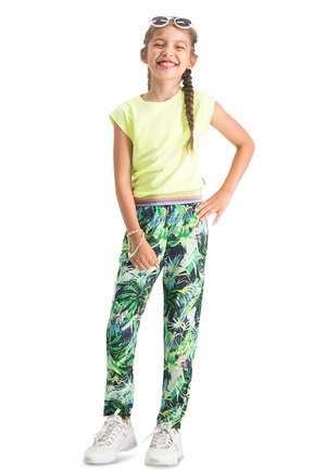 SANIE - Tracksuit bottoms - multicolor green