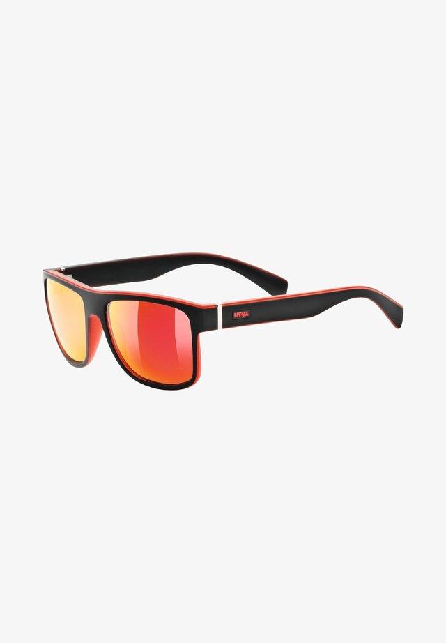Sports glasses - black/red mat