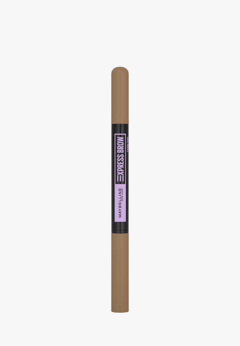 Maybelline New York - EXPRESS BROW SATIN DUO - Eyebrow pencil - 1 dark blonde