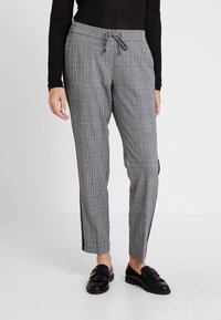 comma casual identity - TROUSERS - Trousers - grey/black - 0