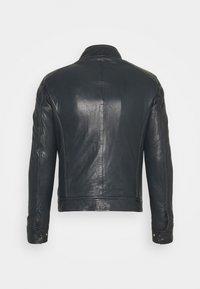 Serge Pariente - ERIK HOOD - Leather jacket - blue - 2