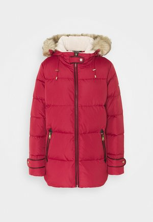 HAND JACKET - Down coat - chili