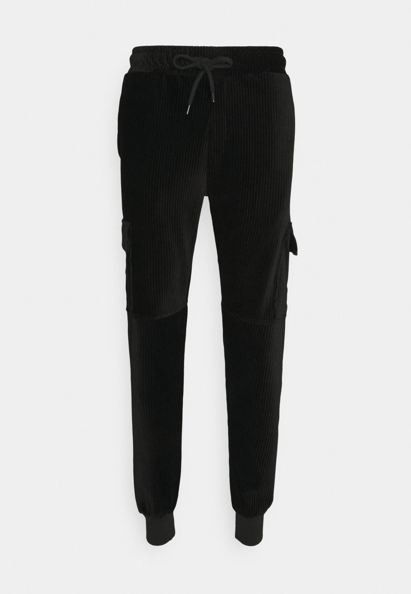 Criminal Damage - ESSENTIAL - Tracksuit bottoms - black/orange