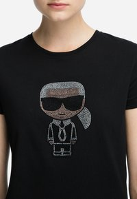 KARL LAGERFELD - IKONIK - T-shirt z nadrukiem - black - 4
