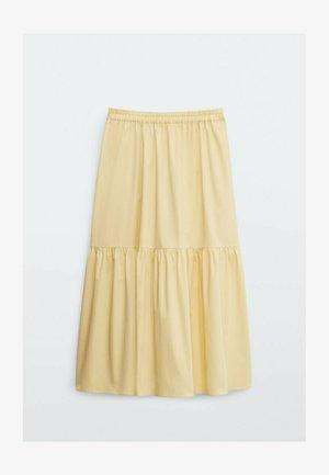 POPELIN  - A-line skirt - beige