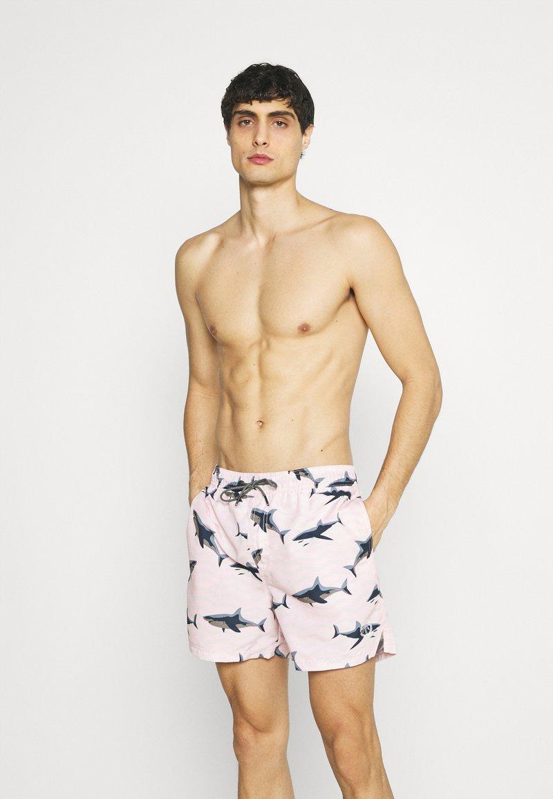 Jack & Jones - JJIBALI JJSWIM SEA ANIMAL - Plavky - pink dogwood