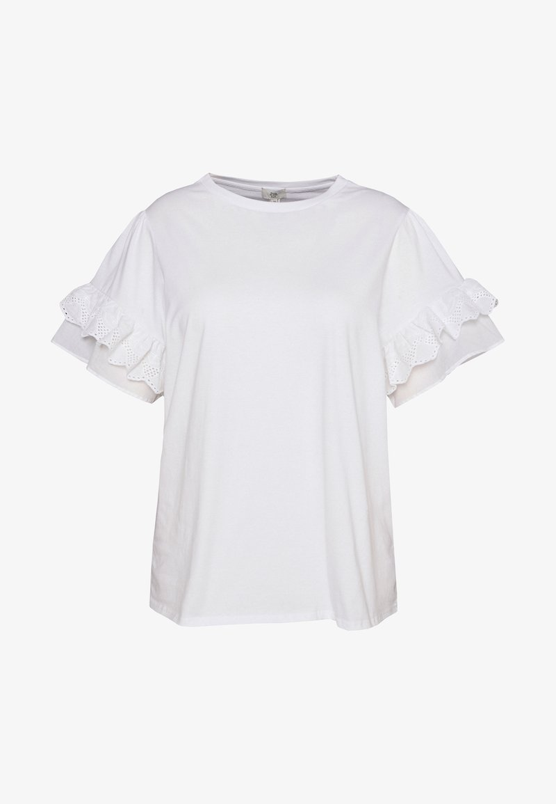 River Island Plus - Print T-shirt - white