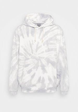 TIE DYE HOOD - Sweatshirt - grey
