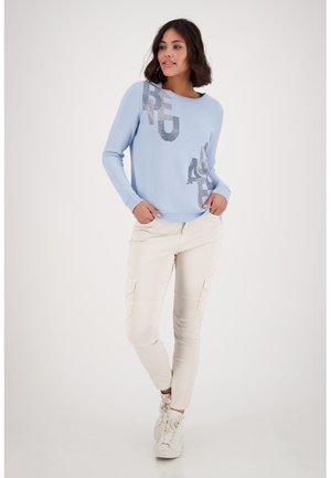 RUNDHALS STRICKPULLOVER - Sweatshirt - blue