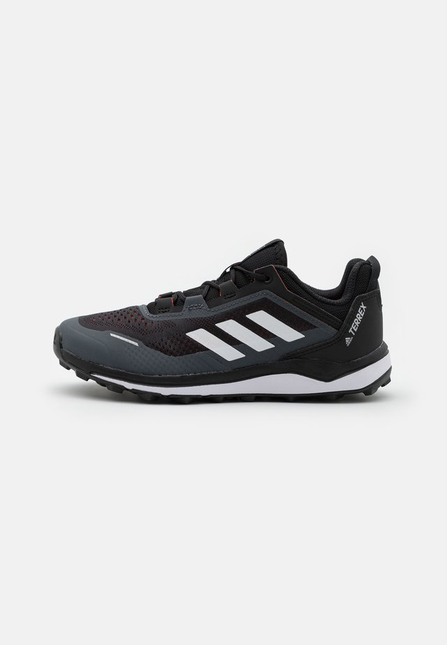 TERREX AGRAVIC FLOW UNISEX - Chaussures de marche - core black/crystal white/solar red