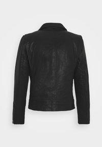 Superdry - MOTO BIKER - Leather jacket - black - 7