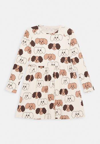 BABY FLUFFY DOG - Jersey dress - beige