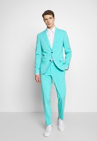 Lindbergh - PLAIN MENS SUIT - Suit - sea blue