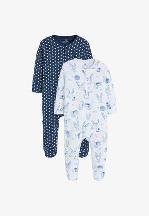 2 PACK BUNNY ZIP  - Pyjamas - blue
