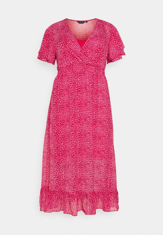 ANIMAL DRESS - Korte jurk - pink