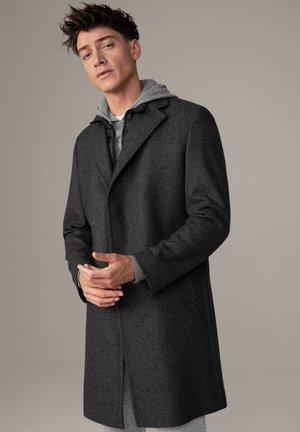 BARONZ - Classic coat - dunkelgrau strukturiert