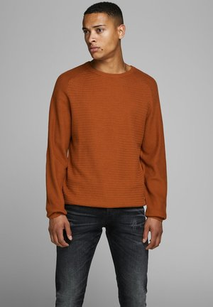 JPRPOST CREW NECK - Jumper - orange