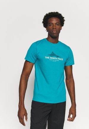 FOUNDATION GRAPHIC TEE - Print T-shirt - enamel blue