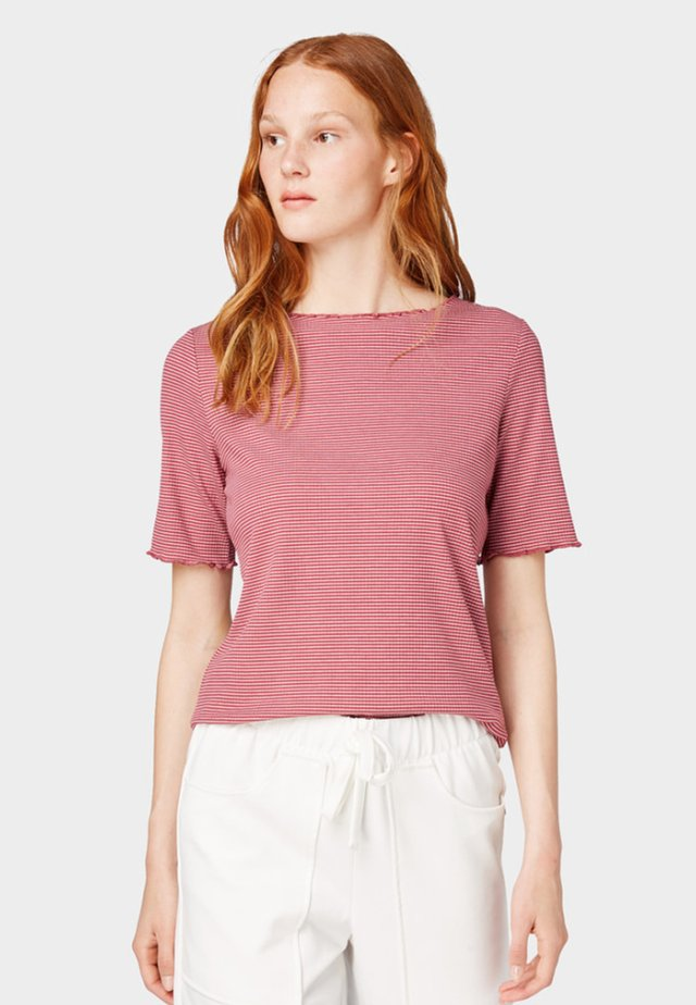 WITH WAVY EDGES - Printtipaita - dusty rose