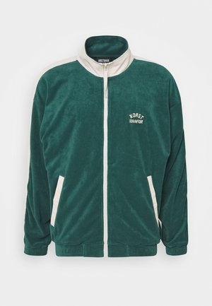 TRACK JACKET UNISEX - Mikina na zip - green/off white