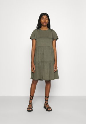VMSIGNE DETAIL TIE DRESS - Jersey dress - kalamata