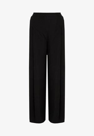 DEEP PLEAT TROUSER - Kalhoty - black