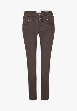 Jeans Skinny Fit - dunkelbraun