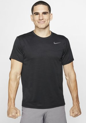 SUPERSET - T-shirt - bas - black/metallic hematite