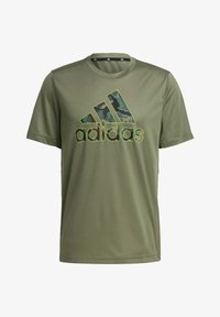 adidas Performance - CAMOUFLAGE GT2 DESIGNED2MOVE PRIMEGREEN WORKOUT GRAPHIC T-SHIRT - Print T-shirt - green - 5