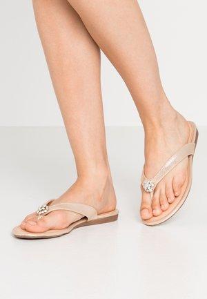 SALVATORE - T-bar sandals - gold