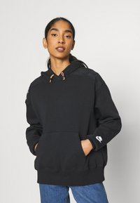 Nike Sportswear - HOODIE - Sweatshirt - black/white - 0