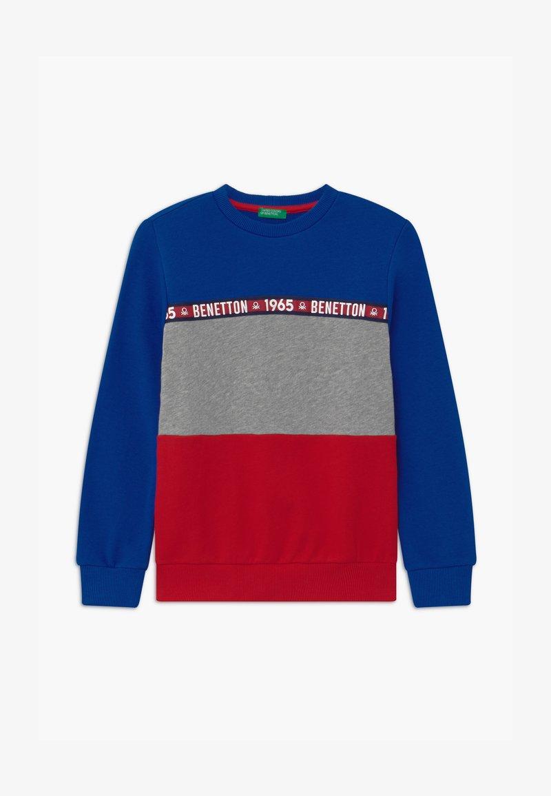 Benetton - BASIC BOY - Sweater - blue/red
