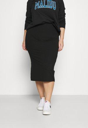 PCKYLIE MIDI SKIRT - Pencil skirt - black