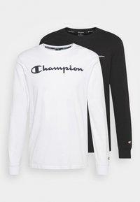 Champion - 2 PACK - Long sleeved top - white/black - 0