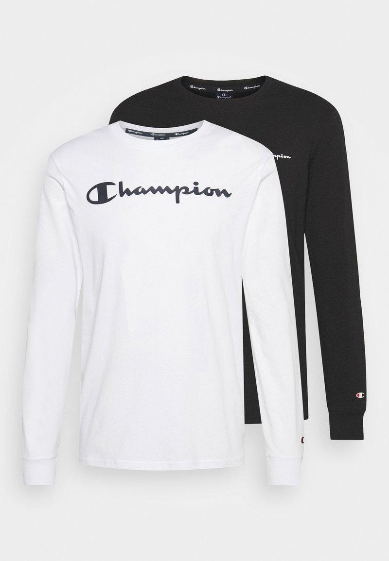 Champion - 2 PACK - Long sleeved top - white/black