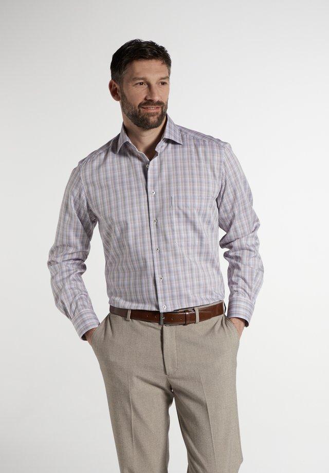 COMFORT FIT - Overhemd - braun/blau