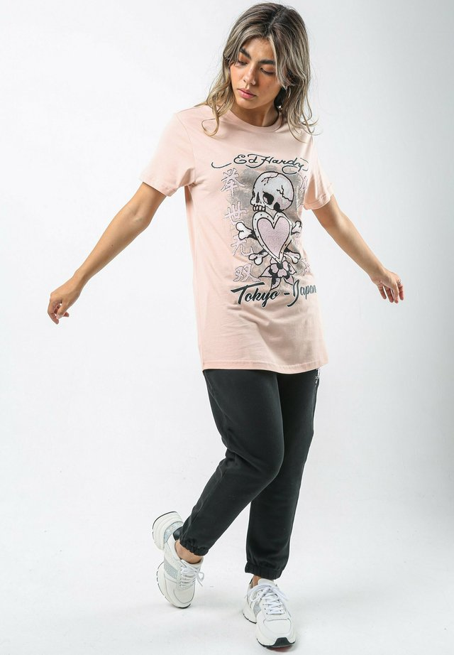 SKULL-PINK T-SHIRT LADIES - T-shirt print - dusty pink