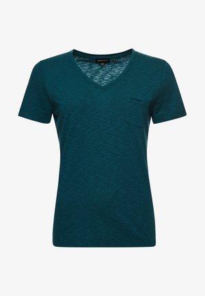 ORGANIC  POCKET  - Basic T-shirt - petrol