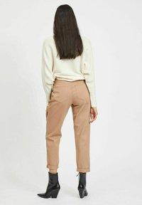 Vila - HOHER BUND - Straight leg jeans - tigers eye - 2