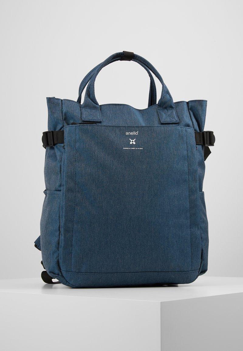 anello - OPEN TOTE BACKPACK - Reppu - navy