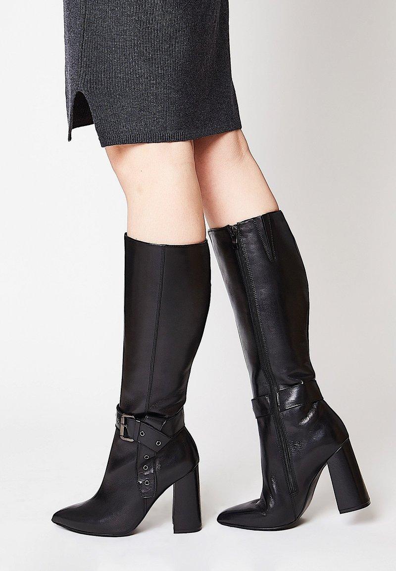 faina - Cowboy/Biker boots - schwarz