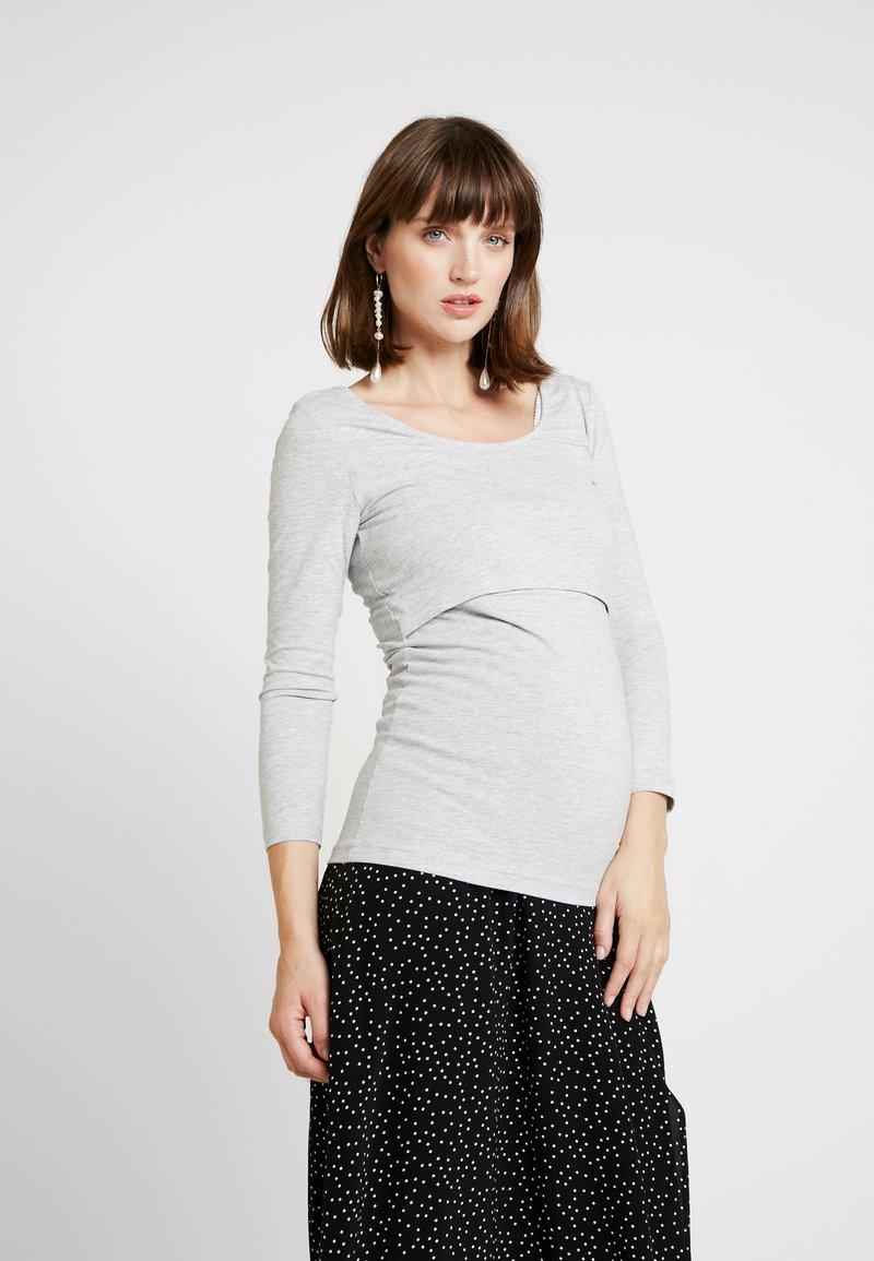 Zalando Essentials Maternity - Longsleeve - mottled light grey
