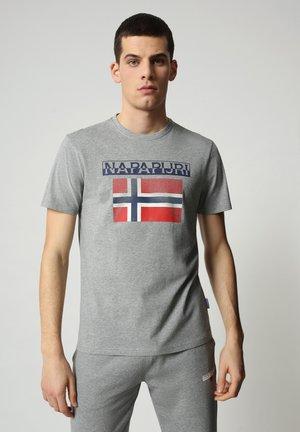 S-SURF FLAG - T-shirt con stampa - medium grey melange