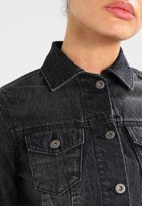 Urban Classics - SHORT JACKET - Denim jacket - black washed - 3