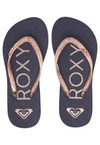 Roxy - T-bar sandals - true navy/gold - 1