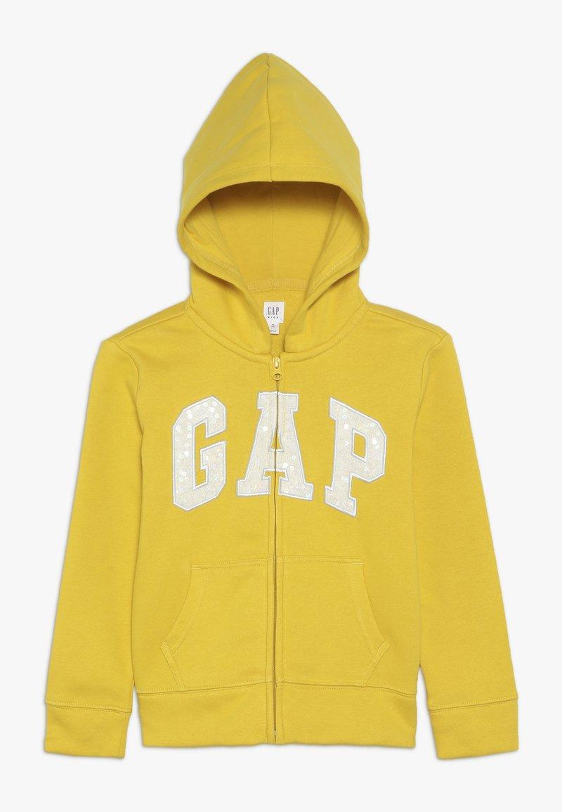 GAP - GIRLS LOGO  - Huvtröja med dragkedja - rainslicker yellow