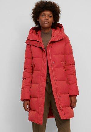 Down coat - bright pomegranate